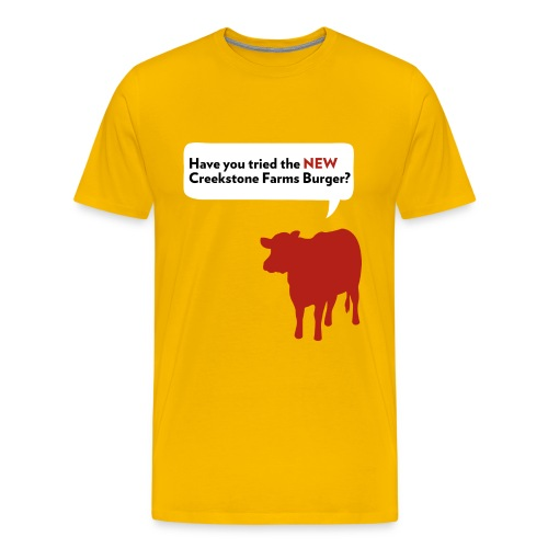 Creekstone Farms Burger - Men's Premium T-Shirt