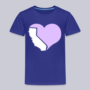 Heart California Heart - Toddler Premium T-Shirt