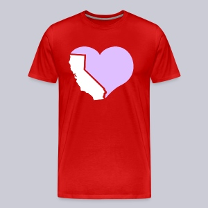 Heart California Heart - Men's Premium T-Shirt