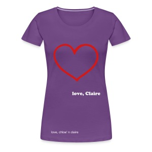 big heart claire - Women's Premium T-Shirt