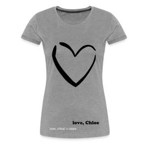 black heart chloe claire - Women's Premium T-Shirt