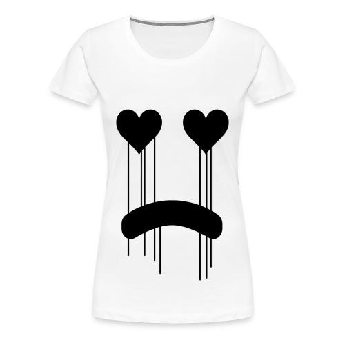 Sad Heart Eyes - Women's Premium T-Shirt