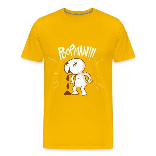 Poopman! for dudes - Men's Premium T-Shirt