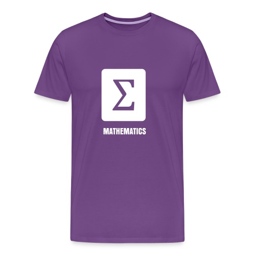 Science Icons: Sigma (EDITABLE TEXT - smooth print) - Men's Premium T-Shirt