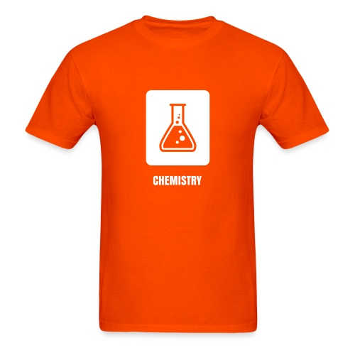 Science Icons: Beaker (EDITABLE TEXT - smooth print) - Men's T-Shirt