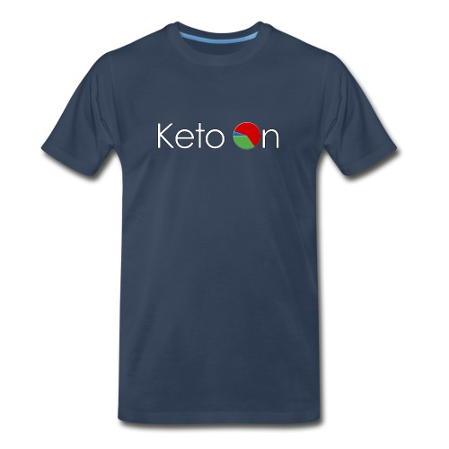 Keto On Men's T-Shirt - White Font- Heavy Cotton - All Colors - Men's Premium T-Shirt
