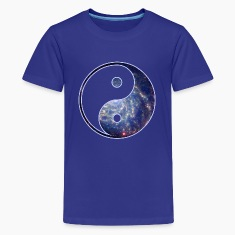 Cosmic Yin Yang Kids' Shirts