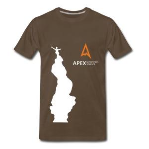 Men's Climb T-shirt (White) - Men's Premium T-Shirt