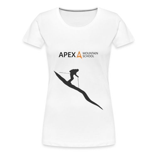 Women's Ski T-Shirt (Black) - Women's Premium T-Shirt
