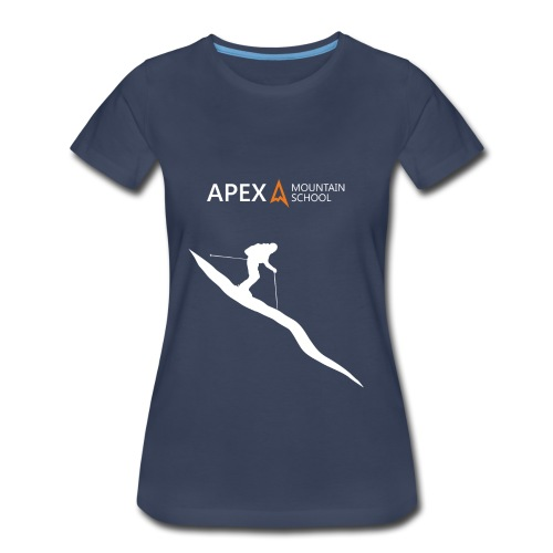 Women's Ski T-Shirt (White) - Women's Premium T-Shirt