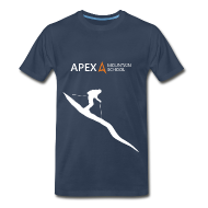 T-Shirts ~ Men's Premium T-Shirt ~ Men's Ski T-Shirt (White)