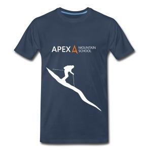 Men's Ski T-Shirt (White) - Men's Premium T-Shirt