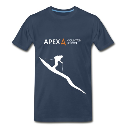 Men's Ski T-Shirt (White) - Men's Premium T-Shirt