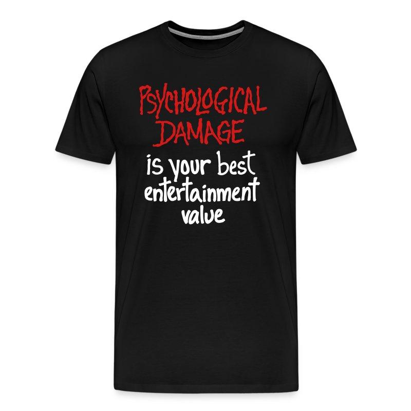 PsychDamage BY HAND - Men's Premium T-Shirt