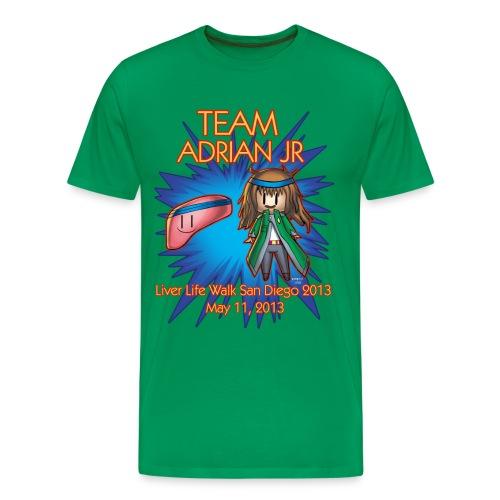 Liver Life Walk T-shirt Mens - Men's Premium T-Shirt