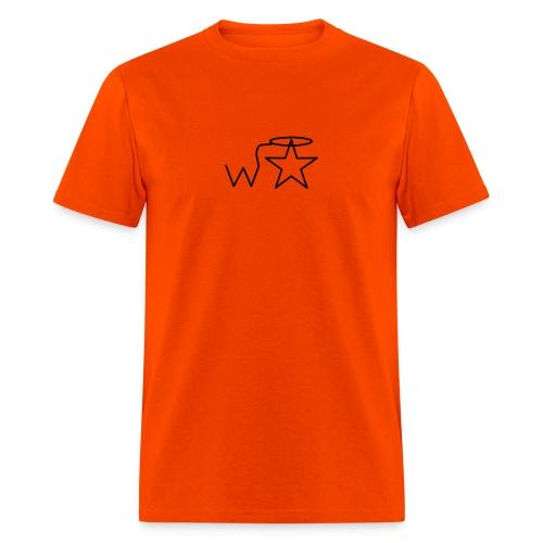 Men's Gildan Black Logo S--2X Wranglerstar - Men's T-Shirt