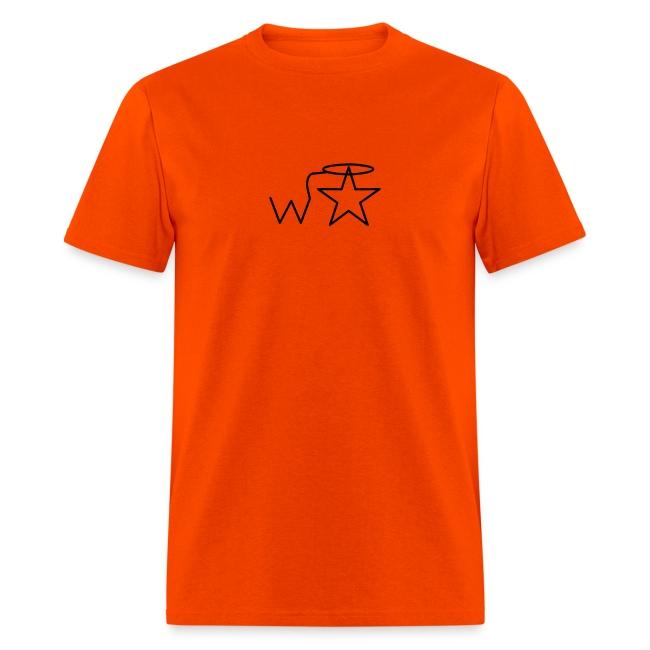 Men's Gildan Black Logo S--2X Wranglerstar