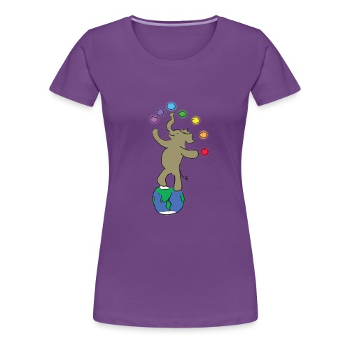 Dancing Ellie the magical elephant - Women's Premium T-Shirt