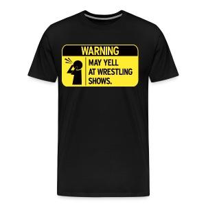 Warning (Men, 3XL-4XL) - Men's Premium T-Shirt
