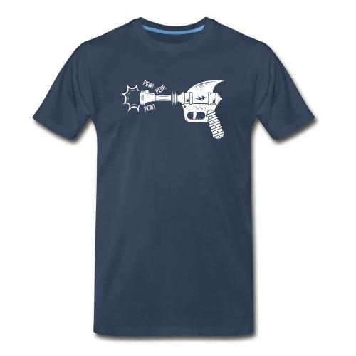 Pew Pew (White) - Men's Premium T-Shirt