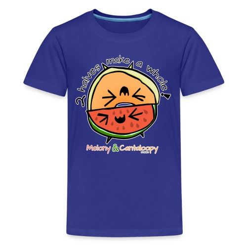 Melony & Cantaloopy, 2 halves make a whole! - Kids' Premium T-Shirt