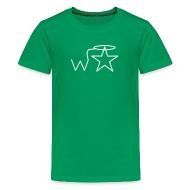 Kids' Shirts ~ Kids' Premium T-Shirt ~ Kids'  White Logo Wranglerstar
