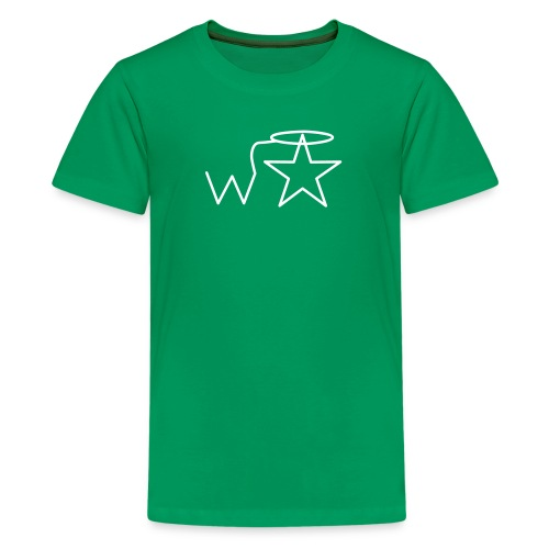 Kids'  White Logo Wranglerstar - Kids' Premium T-Shirt