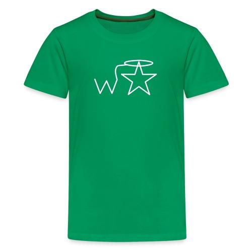 Kids'  White Logo Wranglerstar - Kids' Premium T-Shirt
