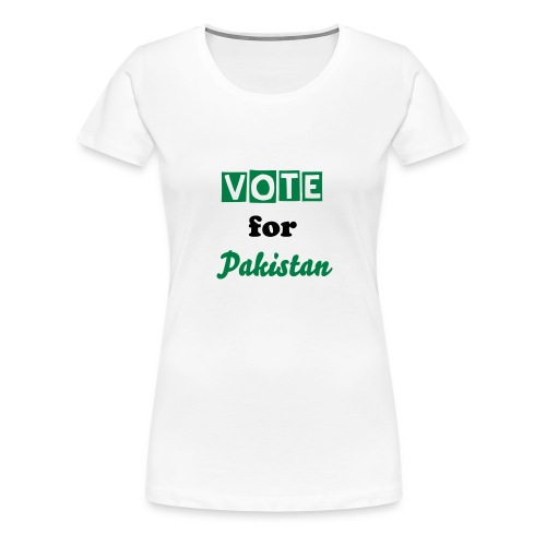 Vote for Pakistan - Women's Premium T-Shirt