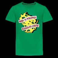Kids' Shirts ~ Kids' Premium T-Shirt ~ Raised on Cheese (Digital Print)