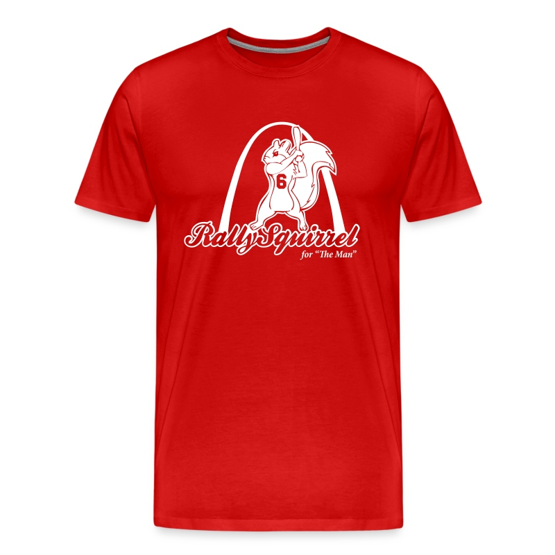 Rally Squirrel for Stan the Man  - Men's Premium T-Shirt