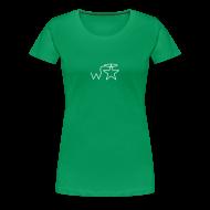 T-Shirts ~ Women's Premium T-Shirt ~ Women's White Logo Trecento Wranglerstar