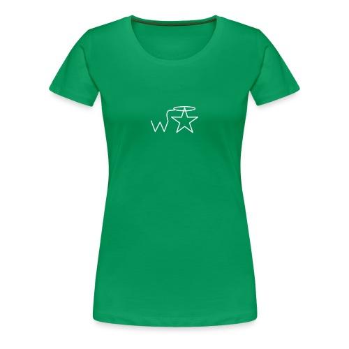 Women's White Logo Trecento Wranglerstar - Women's Premium T-Shirt