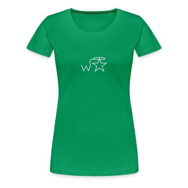 Women's White Logo Trecento Wranglerstar