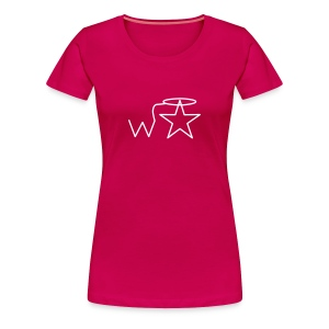 Women's Plus Size White Logo Wranglerstar - Women's Premium T-Shirt