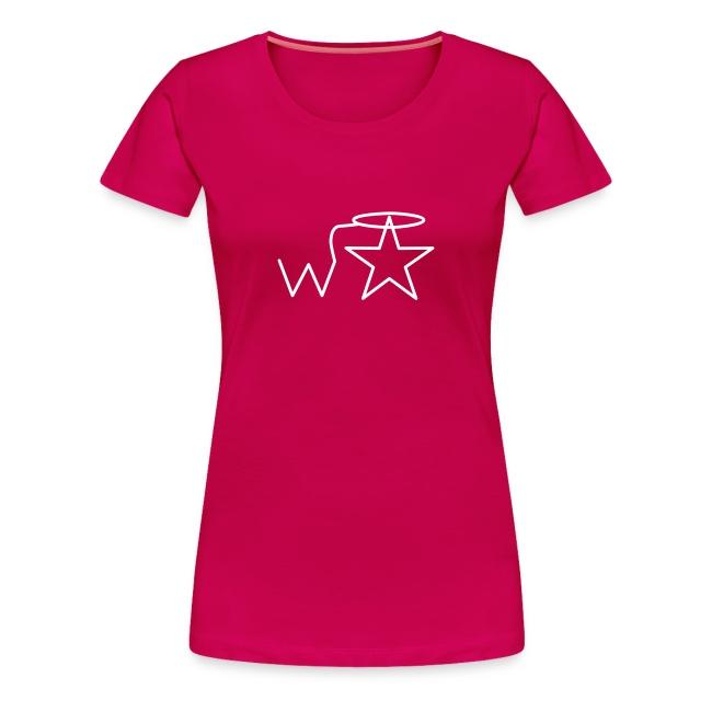 Women's Plus Size White Logo Wranglerstar