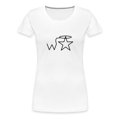 Women's Plus Size Black Logo Wranglerstar - Women's Premium T-Shirt
