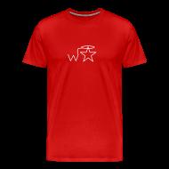 T-Shirts ~ Men's Premium T-Shirt ~ Men's Gildan White Logo S-2X Wranglerstar