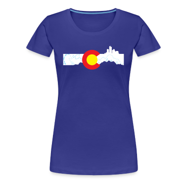 Colorado skyline - Denver Women's T-Shirts