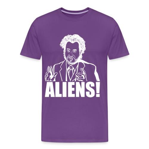 Giorgio Tsoukalos ALIENS! - Men's Premium T-Shirt