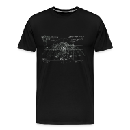 T-Shirts ~ Men's Premium T-Shirt ~ Bioshock Infinite Songbird Schematic