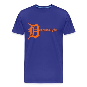 Men's Premium T-Shirt - Simple Detroit4lyfe t-shirt with an Old English D serving as the letter D.