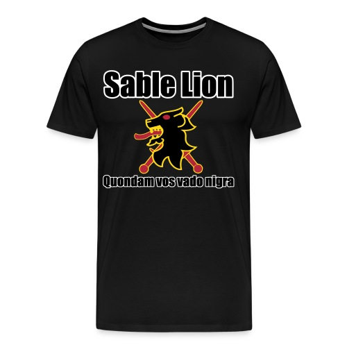 Outlands - Order of the Sable Lion - Digital Print - Men's Premium T-Shirt