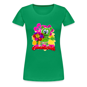 Gummibär (The Gummy Bear) Flowers Women's T- - Women's Premium T-Shirt