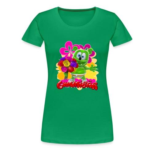 Gummibär (The Gummy Bear) Flowers Women's T- - Women's Premium T-Shirt