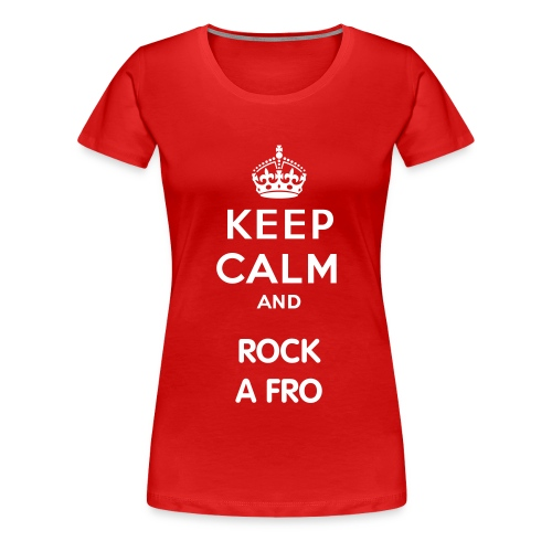 Rock A Fro - Women's Premium T-Shirt