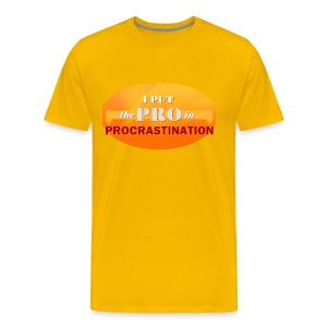 Procrastination - Men's Premium T-Shirt