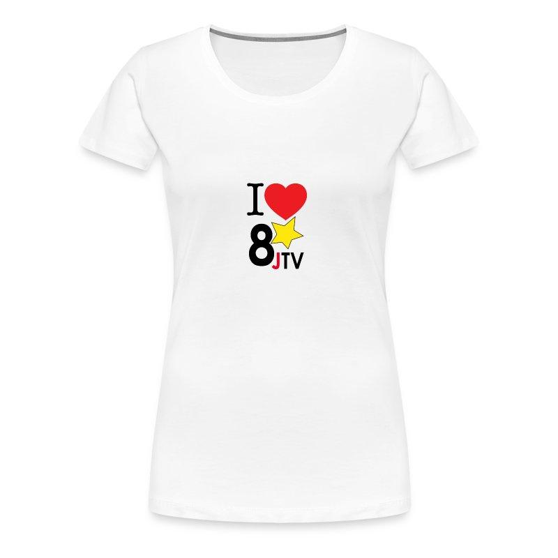 I Love 8JTV Woman's Shirt (Multi-Color) - Women's Premium T-Shirt