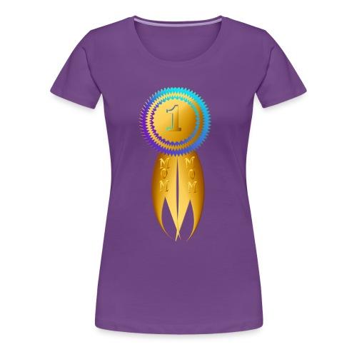 Number 1 Golden MOM - Women's Premium T-Shirt