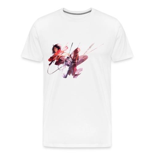 Attack On Titan Mikasa Men's Tee - Men's Premium T-Shirt